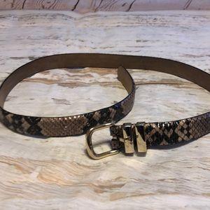 Snakeskin Belt size small